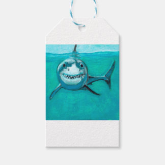 """Wayne"" The Great White Shark Pack Of Gift Tags"