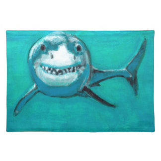 """Wayne"" The Great White Shark Placemat"