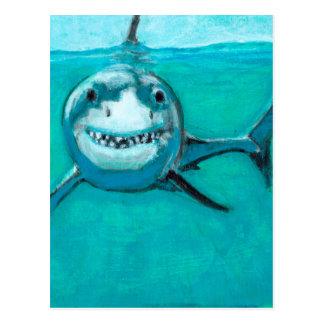 """Wayne"" The Great White Shark Postcard"
