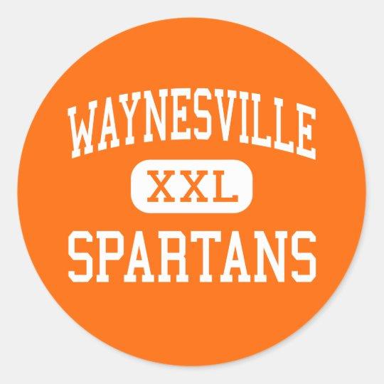 Waynesville - Spartans - High - Waynesville Ohio Classic Round Sticker