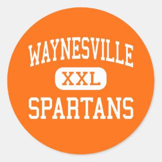 Waynesville - Spartans - High - Waynesville Ohio Round Sticker