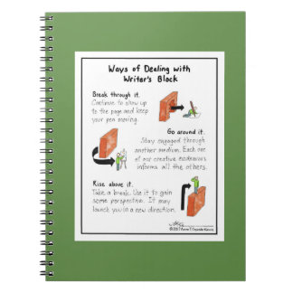 Ways of Dealing with Writer's Block Green Notebook