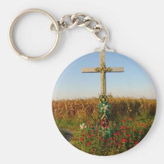 Wayside Crucifix, Romania Keychain