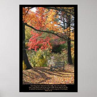 Wayside seat - Scripture Print
