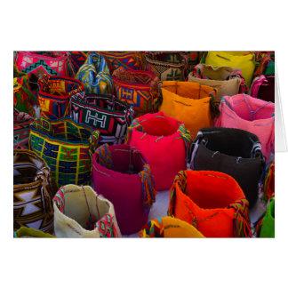 Wayuu mochilas bags for sale in Colombia Card