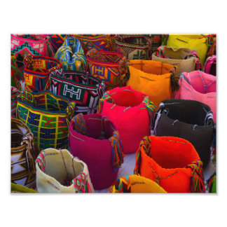 Wayuu mochilas bags for sale in Colombia Photo Print