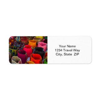 Wayuu mochilas bags for sale in Colombia Return Address Label