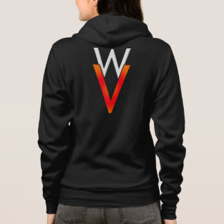 WaywardVerse Black Sweatshirt (White/Orange)