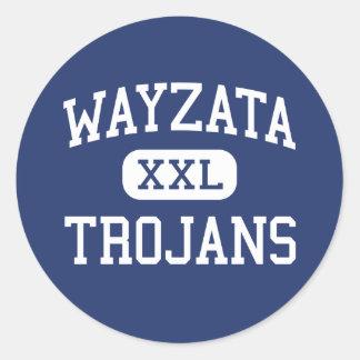 Wayzata - Trojans - High - Minneapolis Minnesota Classic Round Sticker