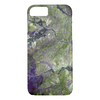 Waziristan Hills Satellite Image iPhone 7 Case