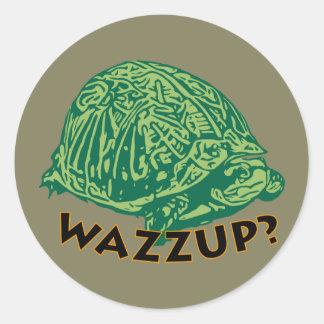 Wazzup - Classic Round Sticker, Glossy Classic Round Sticker