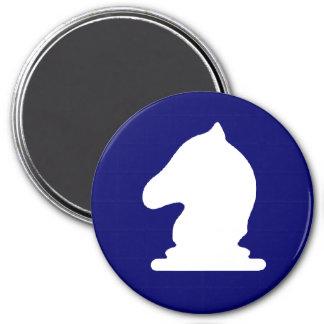 WB Knight - Zero Gravity Chess (USA C) 3 Inch Round Magnet