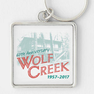 """WC 60th Design 1 - 2"""" Metal Square Keychain"""