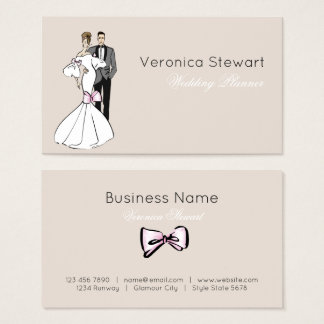 Wdding Planner Fashion Illustration Business Business Card