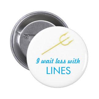 WDW Lines Trident 2 Inch Round Button
