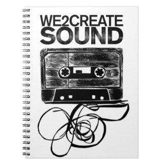 We2Create Sound K7 Spiral Note Book