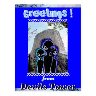 """WE 3"" at Devils Tower Postcard"