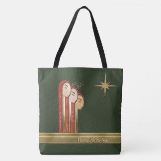 We 3 Kings - Art Deco Christmas Personalized Tote Bag