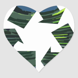 We Adore RECYCLE Champions NVN253 Environment fun Heart Sticker