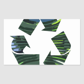 We Adore RECYCLE Champions NVN253 Environment fun Rectangular Sticker
