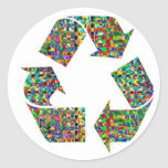 We adore Recycle Champions Round Sticker
