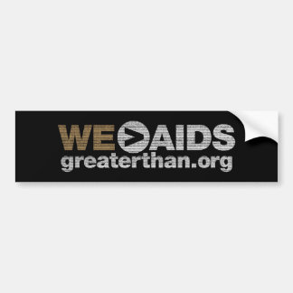 WE>AIDS Bumper Sticker
