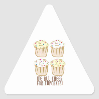 We All Cheer For Cupcakes Stickers