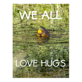 We All Love Hugs Postcard
