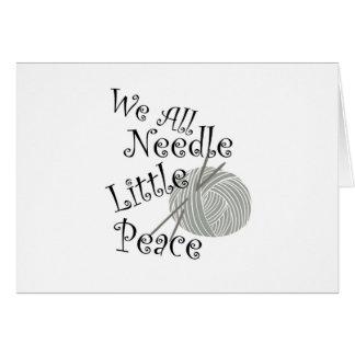 We All Needle Littel Peace Knitting Art Card