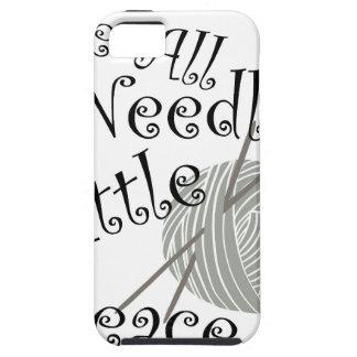 We All Needle Littel Peace Knitting Art iPhone 5 Case