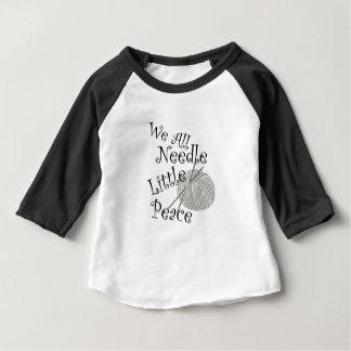 We All Needle Little Peace Zen Knitting Baby T-Shirt