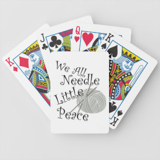 We All Needle Little Peace Zen Knitting Bicycle Playing Cards