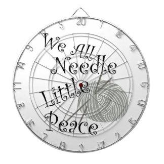 We All Needle Little Peace Zen Knitting Dartboard