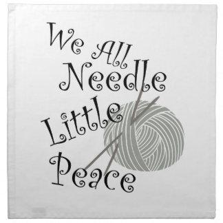 We All Needle Little Peace Zen Knitting Napkin