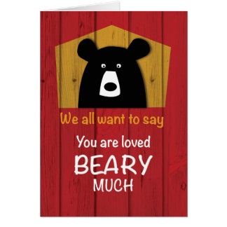 We All Want to Say, Valentine Bear Wishes Card