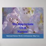 We Appreciate Our Nurses! poster Nursing Week