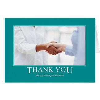 We Appreciate Your Kindness Card