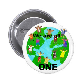 We are all, ONE 2 Inch Round Button