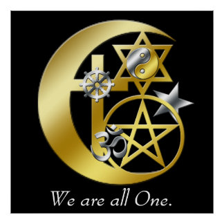 """We are all one."" Poster"