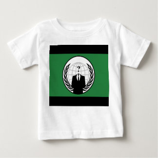 We Are Anonymous Green and Black Flag Baby T-Shirt