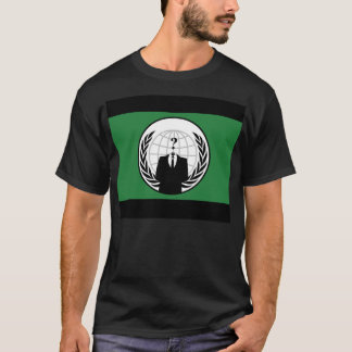 We Are Anonymous Green and Black Flag T-Shirt