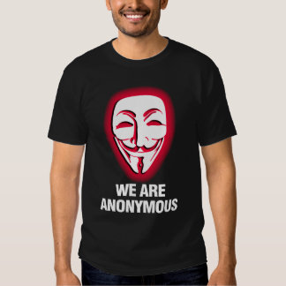 WE ARE ANONYMOUS. (RED) T SHIRT