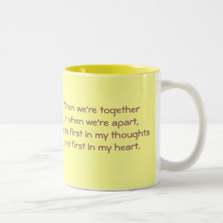 We are apart Two-Tone coffee mug