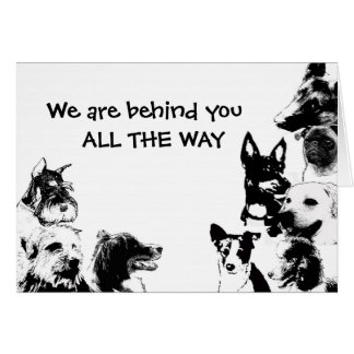 We are behind you  ALL THE WAY Card