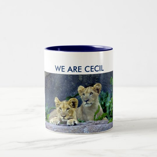 We Are Cecil Cecil's Lion Cubs Two-Tone Coffee Mug