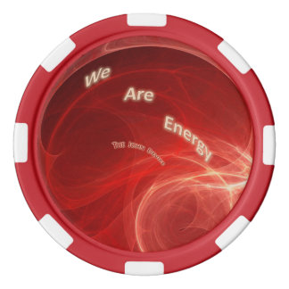 """We Are Energy"" Red Border Clay Poker Chips"