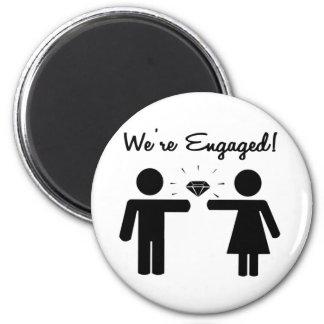 We Are Engaged Fridge Magnets