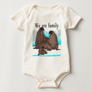 We are Family Baby Bodysuit