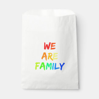 We Are Family Rainbow Adoption, Foster, Blended Favour Bag