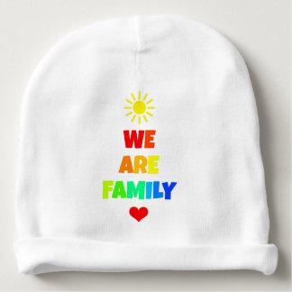We Are Family Rainbow Sunshine Adoption Design Baby Beanie